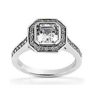 1.35 ct. Princess cut diamond wedding ring